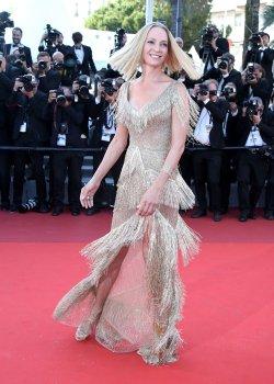 Uma Thurman attends the Cannes Film Festival