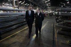 U.S. President-elect Obama meets with American Workers in Bedford Heights, Ohio