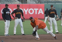 World Series practice for Game 3 in San Francisco