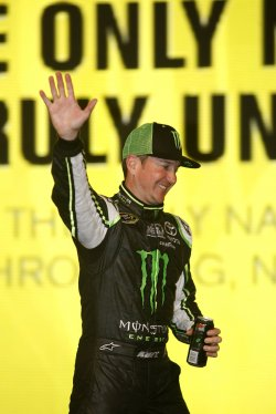 Kurt Busch at All-Star Race at Charlotte Motor Speedway in Concord, North Carolina