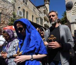 Orthodox Christians Carry Crosses On Good Friday, Jerusalem
