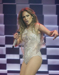 Actor and singer Jennifer Lopez gives a surprise performance during the 2014 Vancouver We Day at Roger's Arena