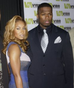 RAPPERS 50 CENT AND OLIVIA ARRIVE FOR VIBE AWARDS