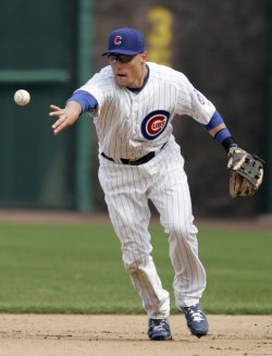 Cubs Second baseman Baker Turns Double Play Against Brewers