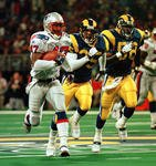 St. Louis Rams vs New England Patriots football