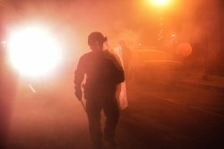 A Second Night of protests in Ferguson after Grand Jury Decision