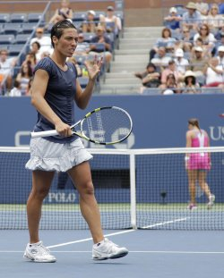 Francesca Schiavone at the U.S. Open Tennis Championships in New York