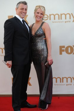 Matt LeBlanc and Andrea Anders arrive at the Primetime Emmy Awards in Los Angeles