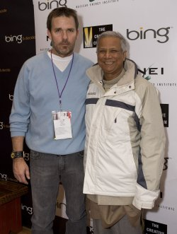 Director Nash and Nobel Peace Prize Winner Muhammad Arrive at the 2010 Sundance Film Festival in Park City, Utah
