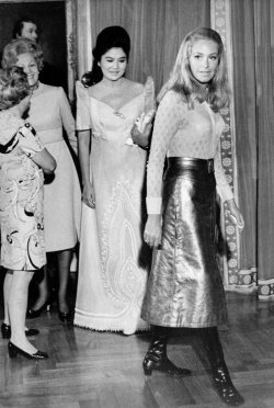 Joan Kennedy at Nixon White House with Imelda Marcos