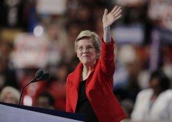 Sen. Elizabeth Warren speaks at the DNC convention in Philadelphia