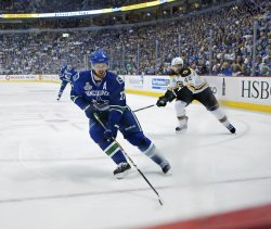 Fifth game of NHL Stanley Cup Final, Vancouver Canucks home to Boston Bruins