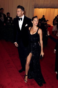 Gisele Bundchen and Tom Brady at the Costume Institute Gala Benefit at the Metropolitan Museum of Modern Art in New York