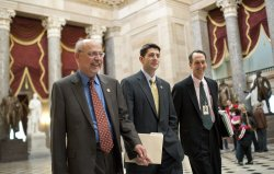 Rep. Paul Ryan (R-WI) votes on Tax Relief and Job Creation Bill in Washington