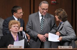 Senate Democrats participate in the Senate Finance Committee's mock up of the health care reform bill in Washington