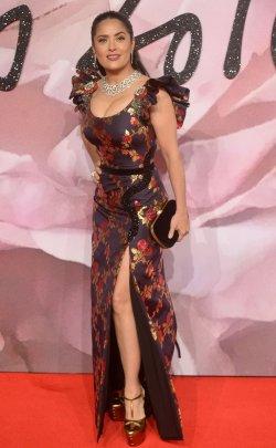 Salma Hayek at The Fashion Awards in London
