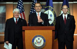 Leader Boehner discusses policy on Capitol Hill