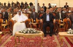 Emir of Qatar Sheik Hamad visit Gaza
