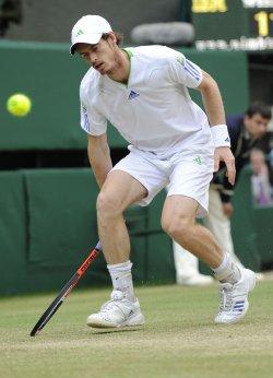 Andy Murray misses at Wimbledon.