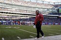 Washington Redskins head coach Mike Shanahan at MetLife Stadium in New Jersey