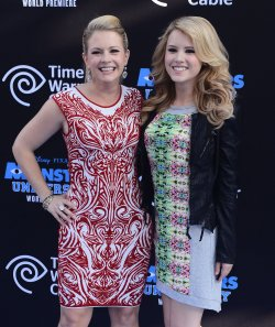 "Melissa Joan Hart and Taylor Spreitler attend the ""Monsters University"" premiere with their sons in Los Angeles"