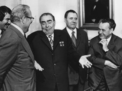 Soviet Communist Party Chief Leonid Brezhnev at Blair House
