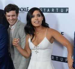 """Adam Brody and Otmara Marrero attend Crackle's """"Startup"""" premiere in West Hollywood"""