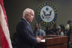 Senators hold a press conference on the VA Bill in Washington, D.C.