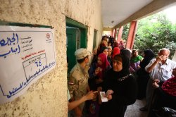 Egyptian Voters Cast Their Ballots in the Presidential Elections