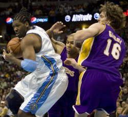 Los Angeles Lakers vs Denver Nuggets in Denver
