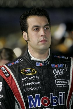 NASCAR driver Sam Hornish Jr. before the Banking 500 race at Lowe's Motor Speedway in Concord, North Carolina