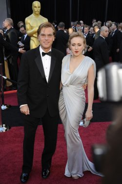 Aaron Sorkin and guest arrive at the 83rd annual Academy Awards in Hollywood