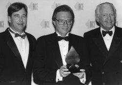Talk show veteran Larry King receives an ACE award