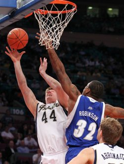 Notre Dame Fighting Irish Luke Harangody at the NCAA Big East Men's Basketball Championships in New York