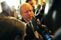 Sen. Joe Lieberman (I-CT) in Washington