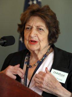 Helen Thomas attends ChildFund toy exhibit in Washington