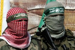 Hamas Militants Take Part in a March in Gaza