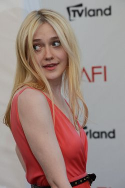 Dakota Fanning arrives for AFI tribute to Shirley MacLaine in Culver City, California