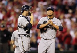 NLCS Game 3 Milwaukee Brewers vs St. LouisCardinals