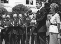 Ronald Reagan Speaks After Economic Summit in Tokyo