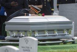 Army Maj. Gen. Harold J. Greene Graveside Service at Arlington National Cemetery