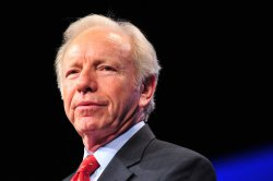 Sen. Joe Lieberman delivers remarks at the AIPAC in Washington