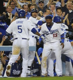 Los Angeles Dodgers vs Atlanta Braves in Game 4 of the NLDS in Los Angeles