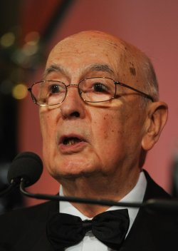 Italian President Giorgio Napolitano speaks at Sons of Italy Foundation gala in Washington