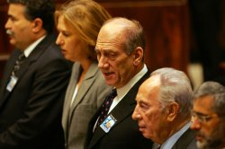 ISRAELI PM EHUD OLMERT HONORS RABIN ON ANNIVERSARY OF HIS ASSASSINATION