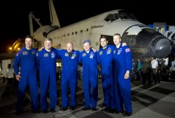Shuttle Astronauts Land with Endeavour