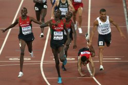 Kiprop Wins the 1500 Meters Final at the World Championships in Beijing