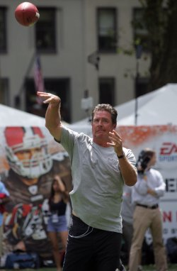 Dan Marino attends the EA Sports Madden NFL 12 Pigskin Pro-AM in New York