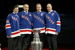 New York Rangers Adam Graves' number retired at Madison Square Garden in New York