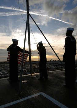 Sailors aboard the USS Harry S. Truman in Virginia